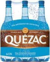 2 Packs de 6 Bouteilles d'eau minérale gazeuze Quezac - 12x1.5L