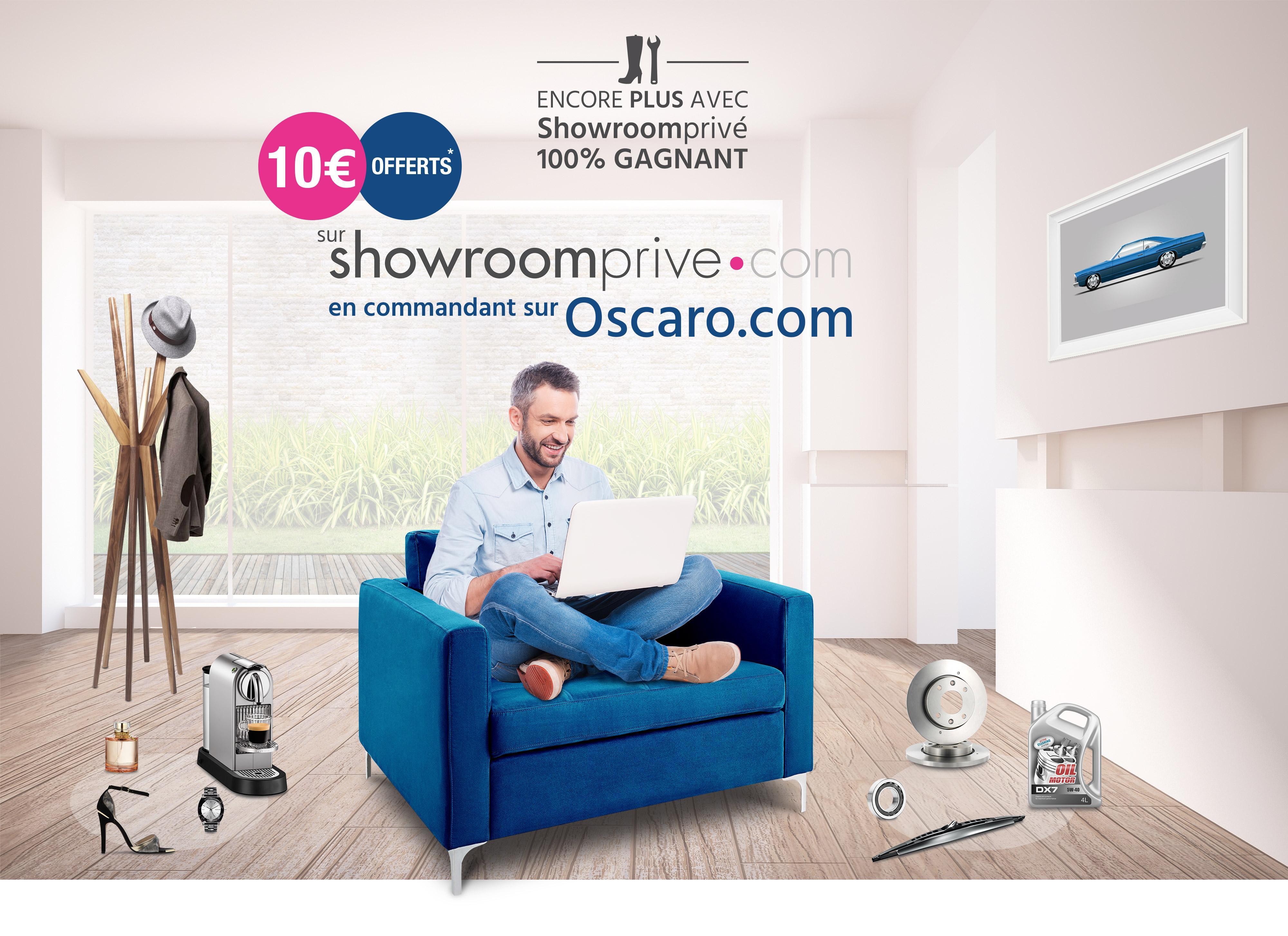 Un bon d'achat de 10€ offert chez Showroomprivé pour toute commande