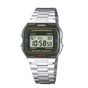 Montre LCD Casio A163WA-1QES pour Hommes - Chrono + Alarme