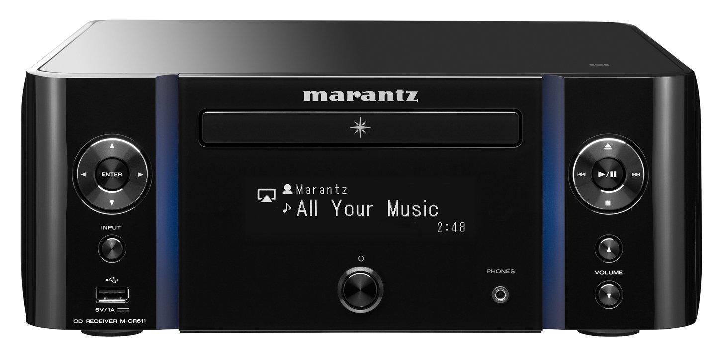 Ampli Hi-Fi Réseau Marantz M-CR611 - WiFi, Ethernet, Bluetooth, NFC, AirPlay, DLNA, vTuner, Spotify, Tuner FM/DAB+, USB, CD, LFE (3,4Kg)