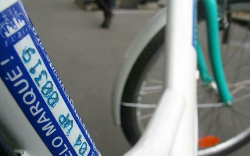 Marquage de vélo gratuit dans plusieurs villes