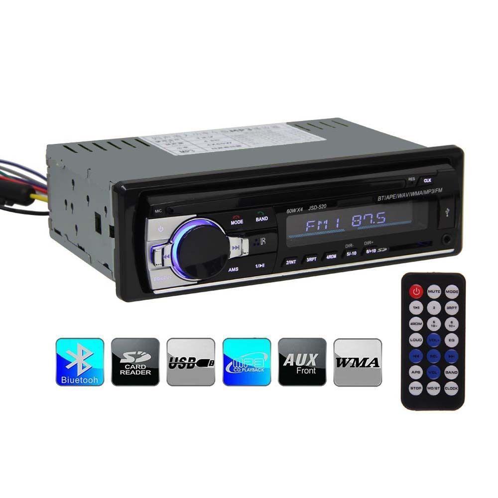 Autoradio Bluetooth JSD 520 (avec télécommande)