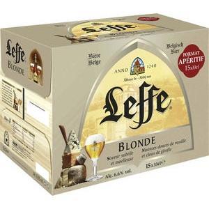 2 packs de bière blonde d'abbaye Leffe Blonde 6,6% vol soit 30x 33 cl