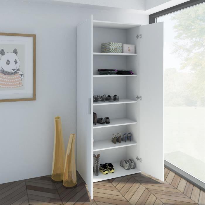 Meuble à chaussures Finlandek Rokhea - 69 cm, Blanc