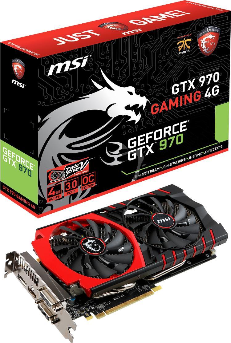 Carte Graphique MSI GeForce GTX 970 GAMING 4G