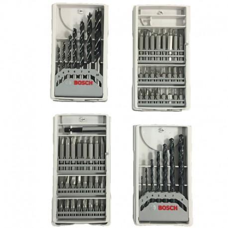 Kit de 4 coffrets Bosch Professionnel de 63 Accessoires