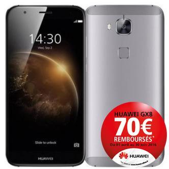 """Smartphone 5,5"""" Huawei GX8 Gris ou Or - Octo-core, RAM 3 Go, ROM 16 Go (via ODR 70€)"""