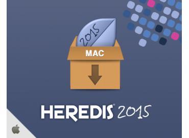 Logiciel de généalogie Heredis 2015 Pro sur PC (dématérialisé)
