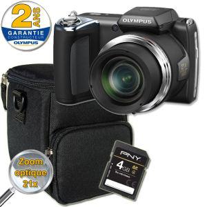 OLYMPUS SP620 Bridge zoom x21+ Etui + Carte SD 4Go