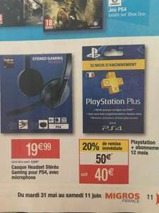 Abonnement d'un an au PlayStation Plus