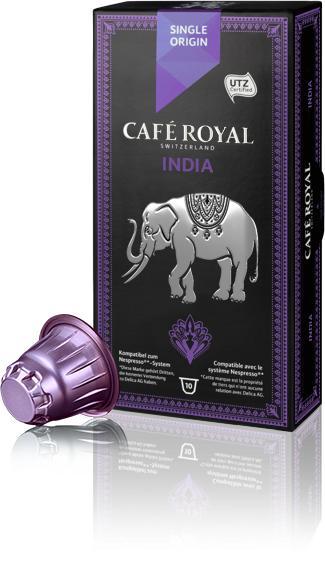 10 capsules de Café Royal - Colombia et/ou India