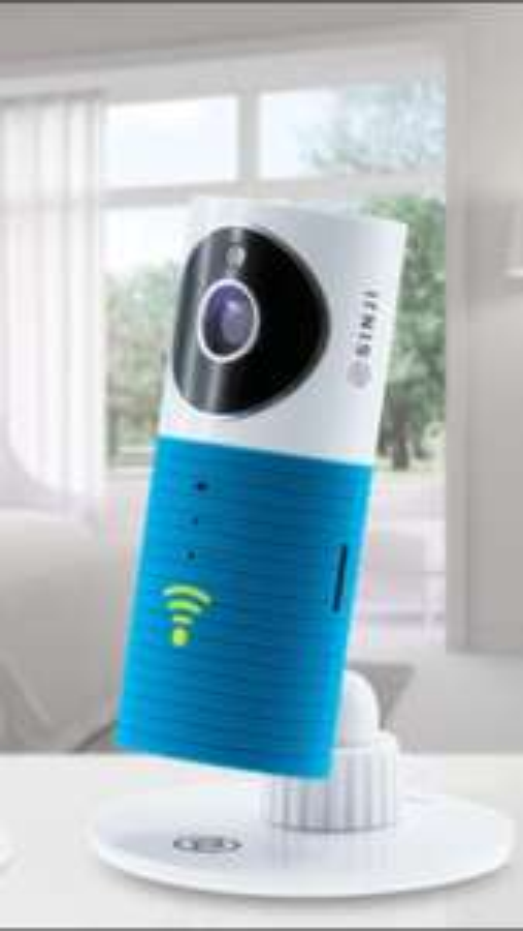 Caméra IP Smart Wi-Fi Sinji - 720x576 à 15 FPS, Bleu