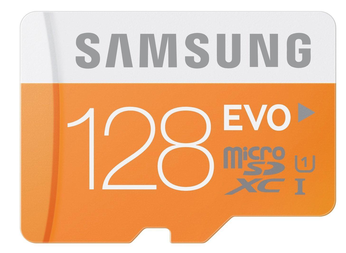 Carte microSDXC Samsung Evo UHS-I U1 Classe 10 - 128 Go