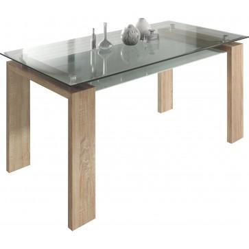 Table à manger - verre, Sonoma (160 cm)