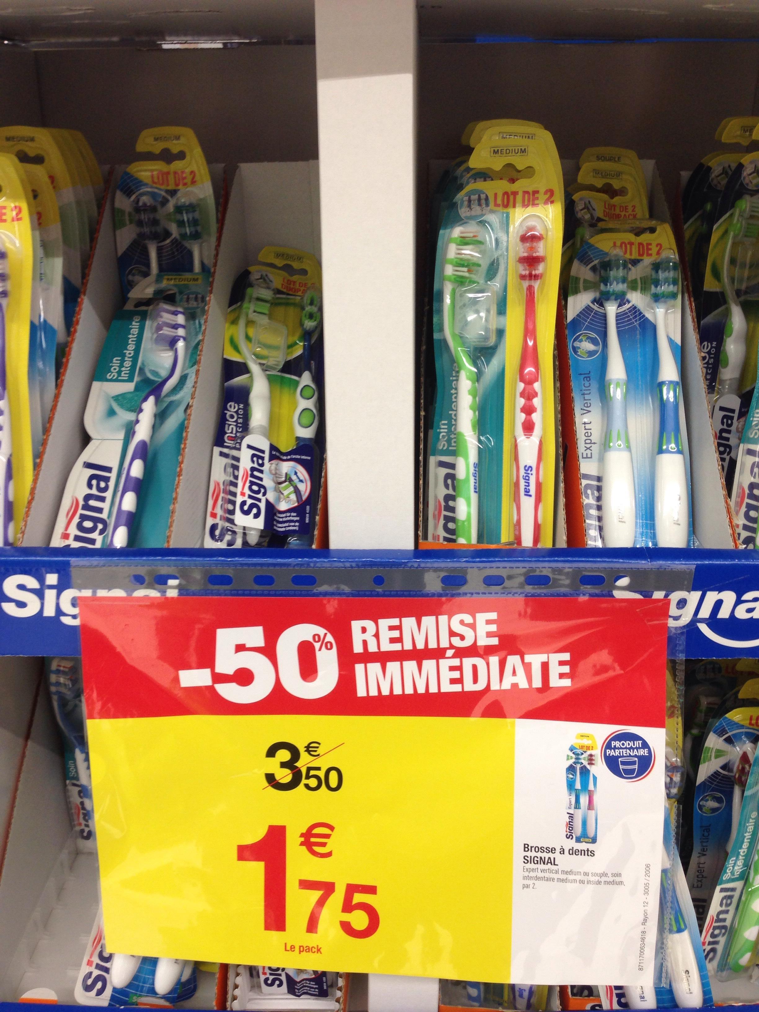 Pack de 2 brosses à dents Signal