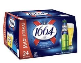 Sélection de bières 1664 en promotion - Ex : Pack de bières 1664 - 24x25 cl (Via carte de fidélité + BDR)