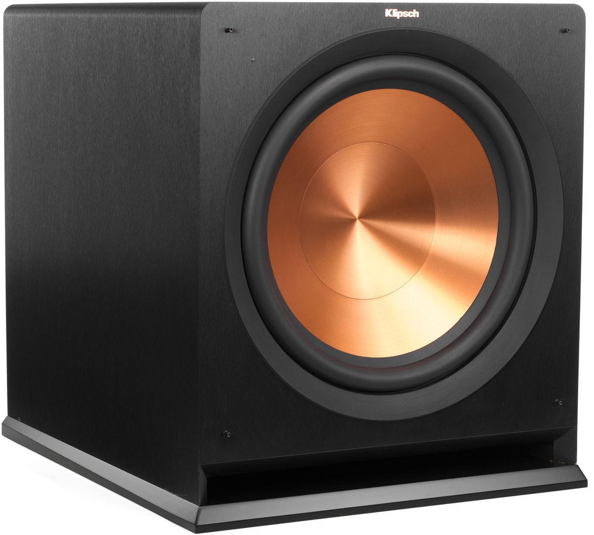 Caisson de Basses amplifié Bass-reflex Klipsch R-115SW - 400/800W, HP Cerametallic 38cm, SPL 122db, 18 Hz 125 Hz +/-3 dB, 495 x 546 x 566 mm (34,2Kg)