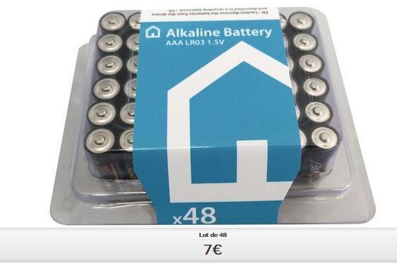 Lot de 48 Piles Alcalines LR03 ou LR06