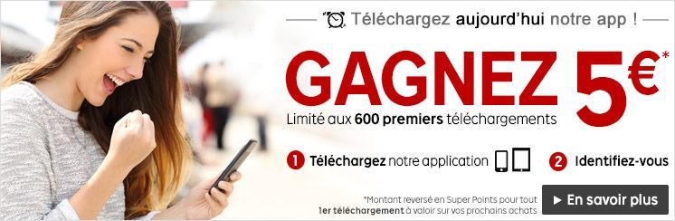 500 SuperPoints (soit 5€) offerts pour l'installation de l'application