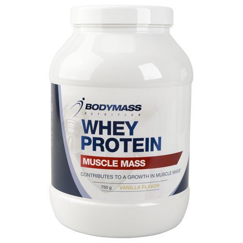Protéines de nutrition Bodymass Whey Muscle Mass à la Vanille - 750g