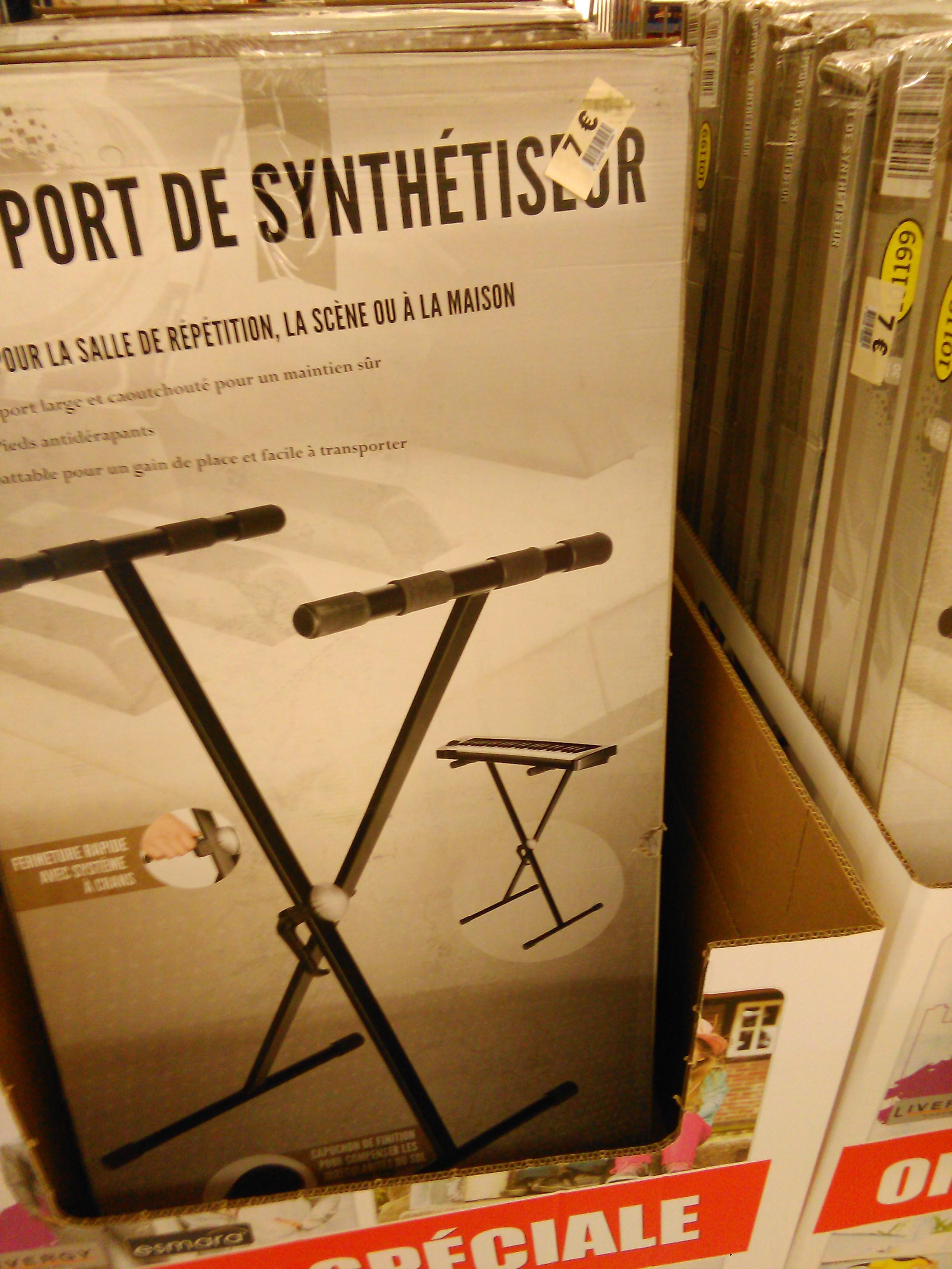 Support de synthétiseur