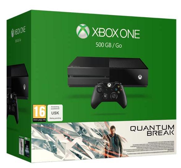 [Carte Fnac] Pack console Microsoft Xbox One (500 Go) + Quantum Break + 80€ sur le compte fidélité