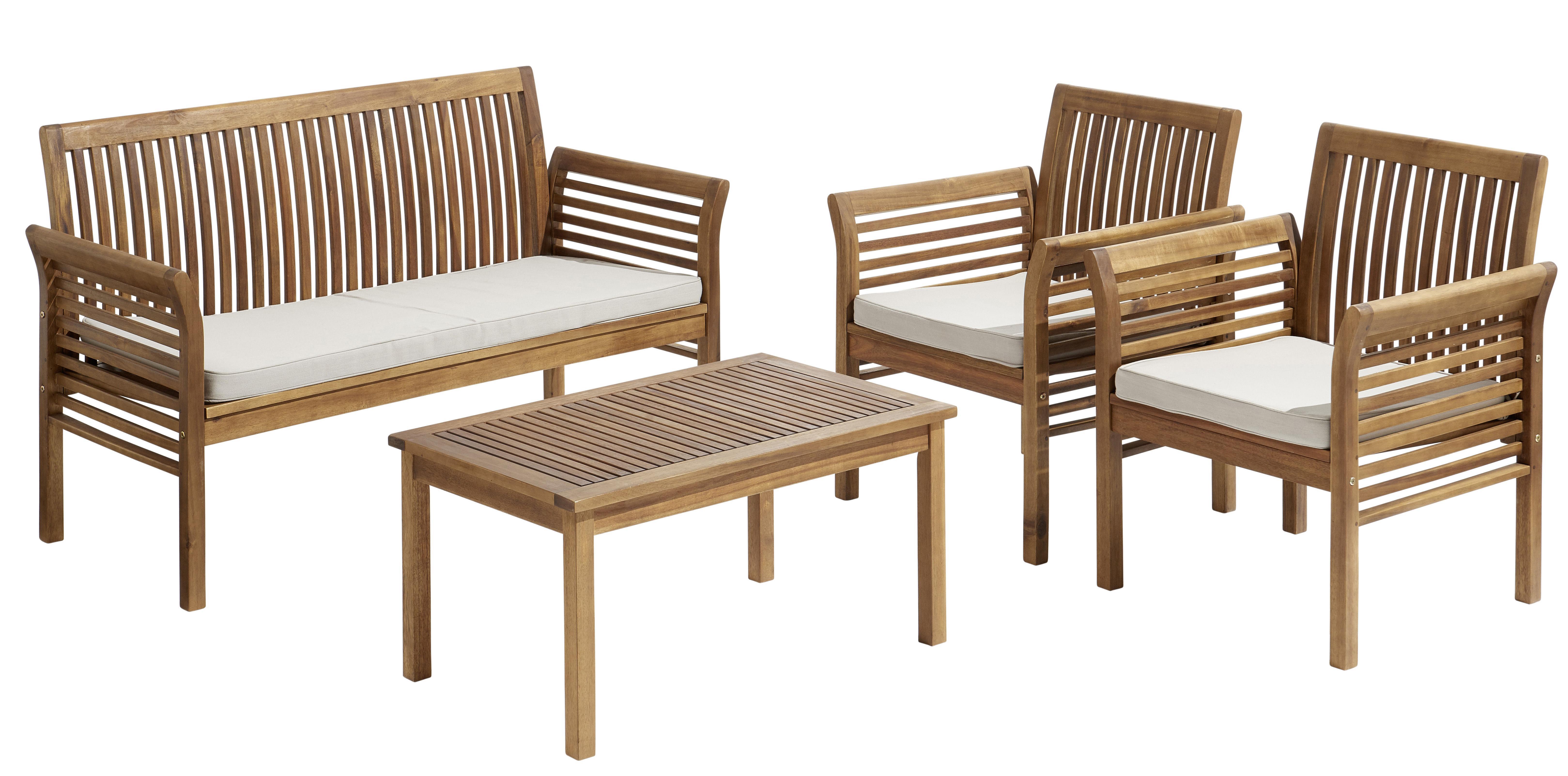 Jusqu'à -50% sur une sélection de mobilier de jardin - Ex: Salon Bas Hanoi (1 table basse + 1 sofa + 2 fauteuils)