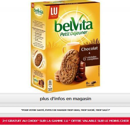 Lot de 3 paquets de Belvita Petit Déjeuner au Chocolat et Céréales complètes - 3x8x4 (Via 2+1 gratuit + BDR)