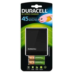 Chargeur Rapide 45 Minutes Duracell + 2 Piles AA et 2 Piles AAA