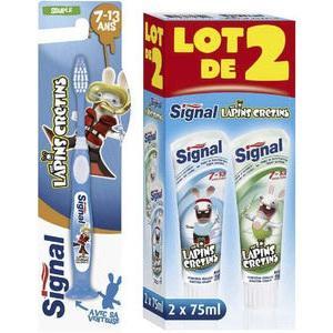 Lot de 2 dentifrices ou 1 brosse à dents Signal Lapins Crétins (via 0.79€ sur la carte de fidélité)