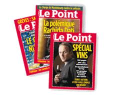 """Abonnement de 8 numéros au magazine """"Le Point"""""""