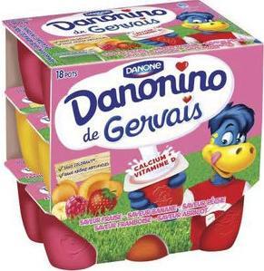 Lot de 18 petits pots Danonino de Gervais (via BDR et 1.02€ sur la carte) - 900g