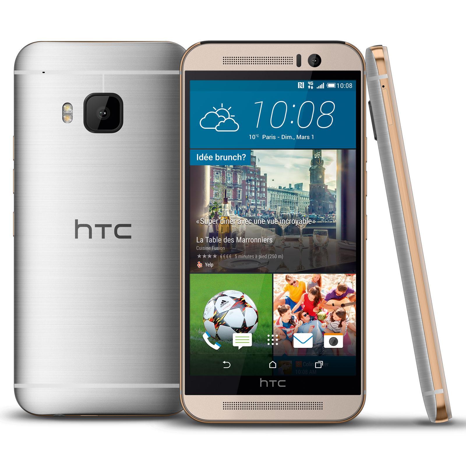"""Jusqu'à 50% offerts en bon d'achat sur une sélection d'articles du rayon Téléphonie - Ex : Smartphone 5"""" HTC One M9 Argent (+ 249.99€ en bon d'achat et via ODR 80€)"""