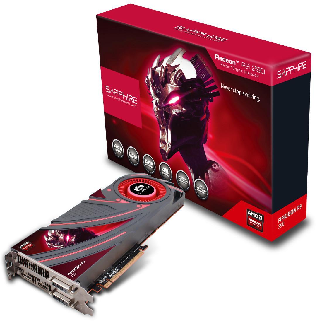 Carte graphique Sapphire AMD R9 290X 4Go GDDR5 (reconditionnée)