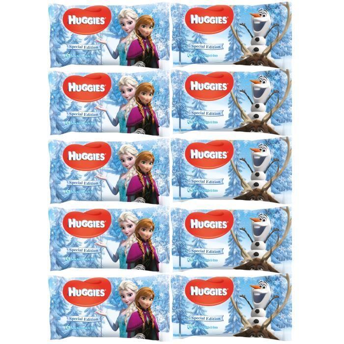 Lot de 10 paquets de lingettes Huggies - La Reine des Neiges