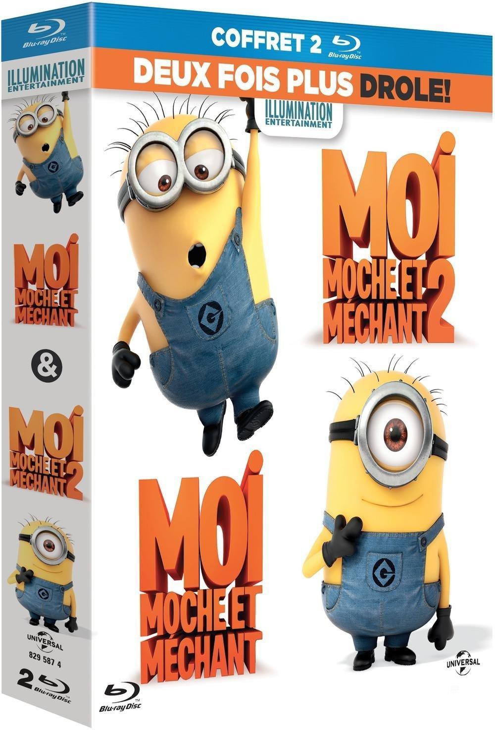 Coffret Blu-ray ou DVD Moi, moche et méchant 1 et 2