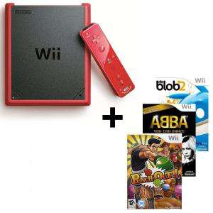 Wii mini + Punch-out + Abba : You can Dance + De Blob 2
