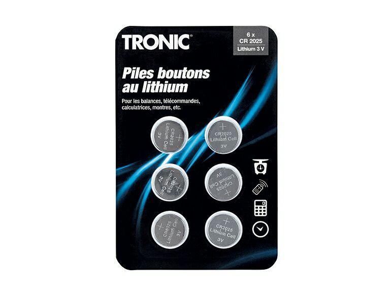 Lot de 6 piles boutons Tronic