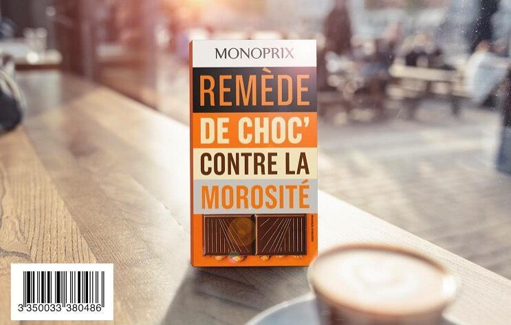 Une tablette de chocolat Monoprix offerte sur présentation de l'image