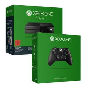 Pack Console Xbox One 1To + 1 jeu + 2 Manettes