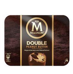 Boîte de Magnum Double Peanut Butter - 4 Glaces (Via 40% sur la carte de fidélité + BDR)