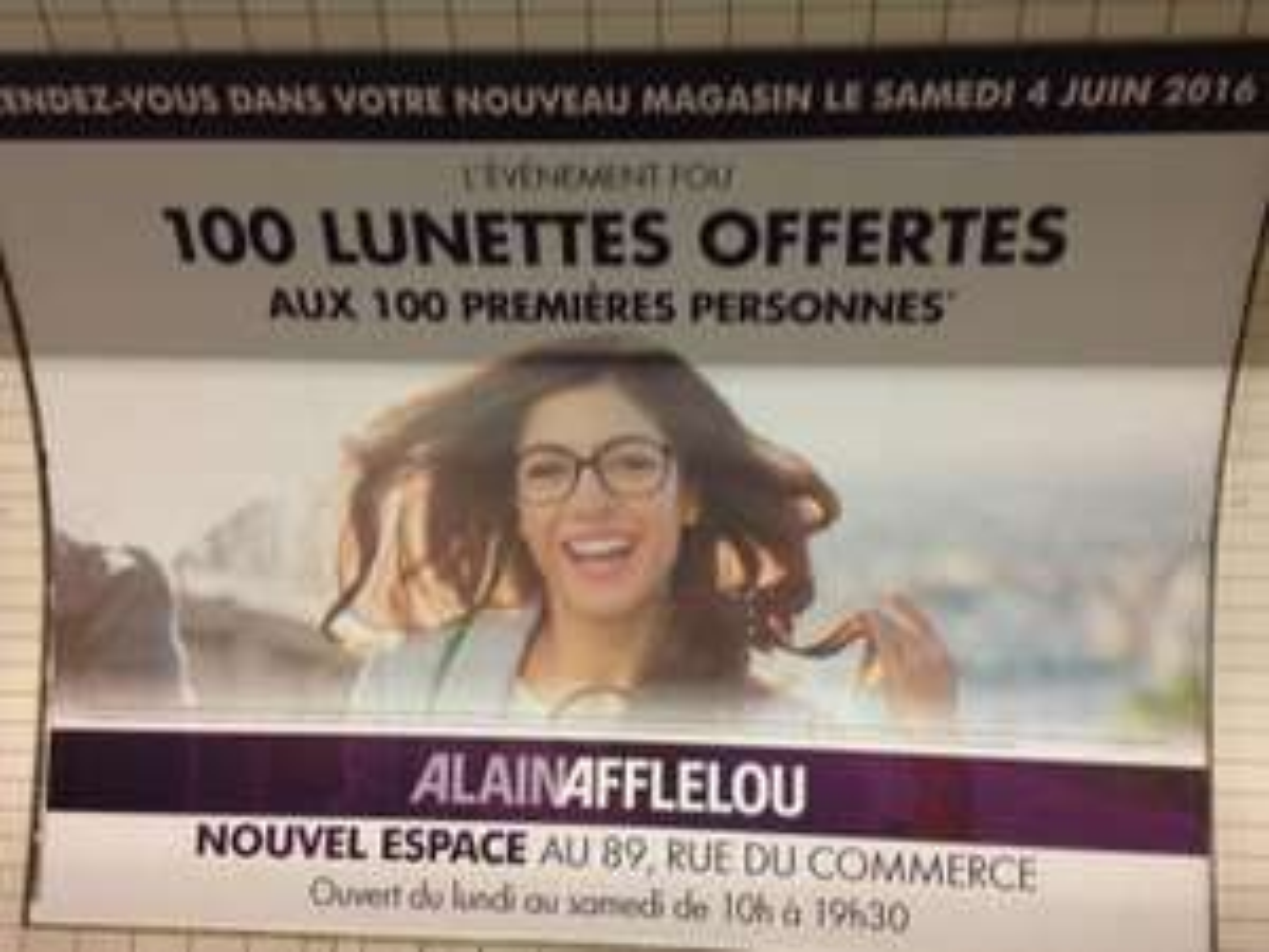 100 lunettes offertes aux 100 première personnes