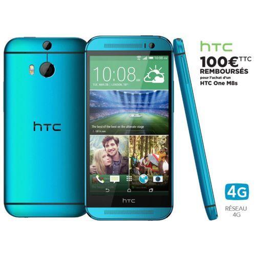 """Smarpthone 5"""" HTC One M8s - Bleu, ROM 16 Go, RAM 2 Go (via ODR 100€)"""