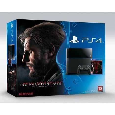 Console Sony PS4 500 Go + Metal Gear Solid V : The Phantom Pain (via 80€ sur la carte)