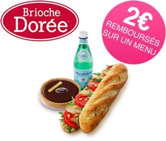 2€ remboursés sur un menu (via Shopmium + BDR)