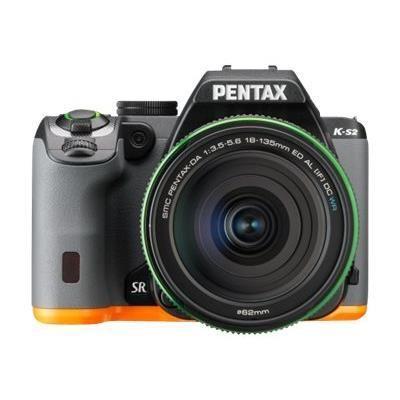 Appareil photo Reflex Pentax K-S2 + Objectif DAL 18-50 mm WR - Noir/Orange ou Blanc