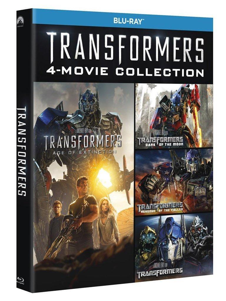 Coffret 5 Blu-Ray (Import Italie) - Quadrilogie Transformers (VF incluse)