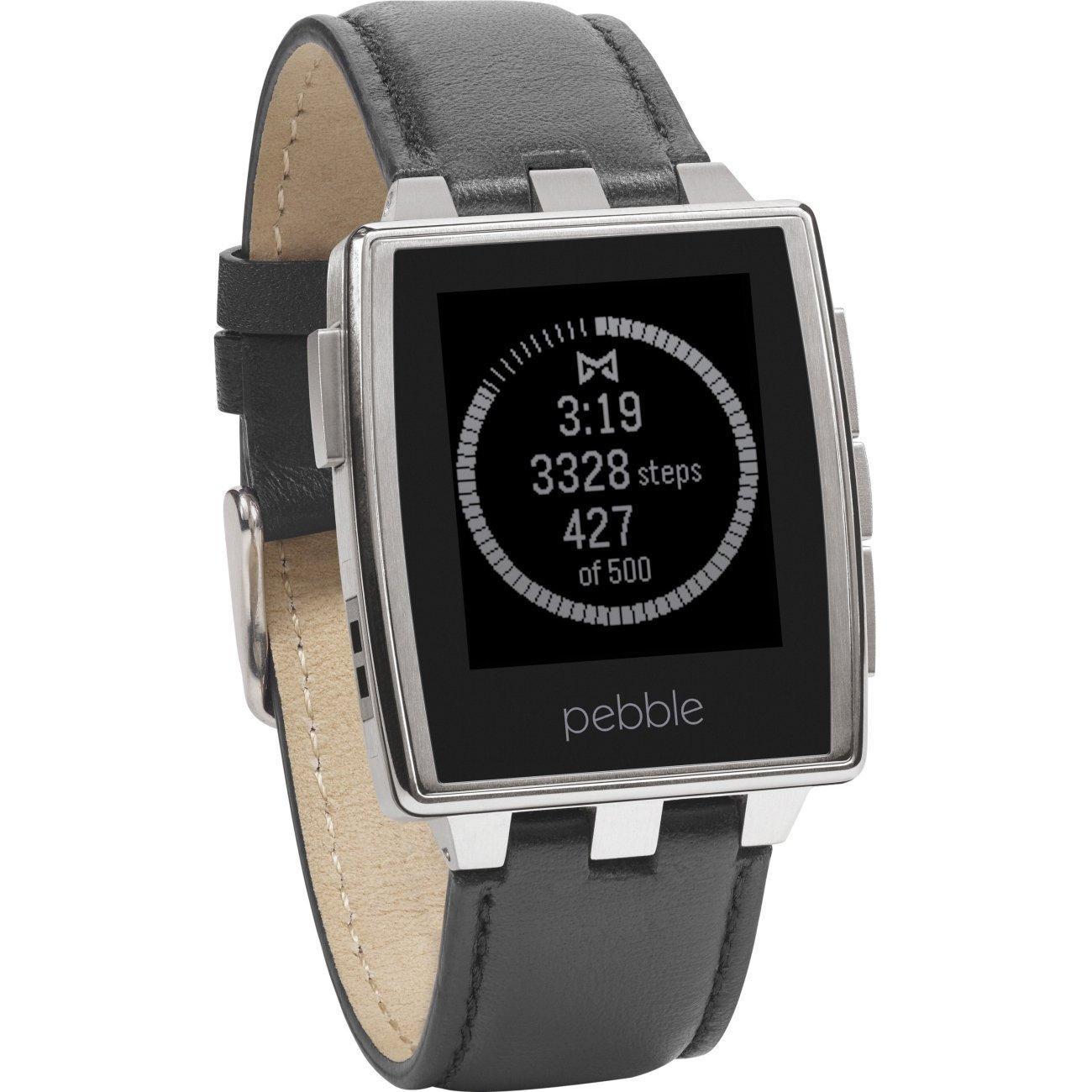 Sélection de montres connectées Pebble - Ex Montre Pebble Steel