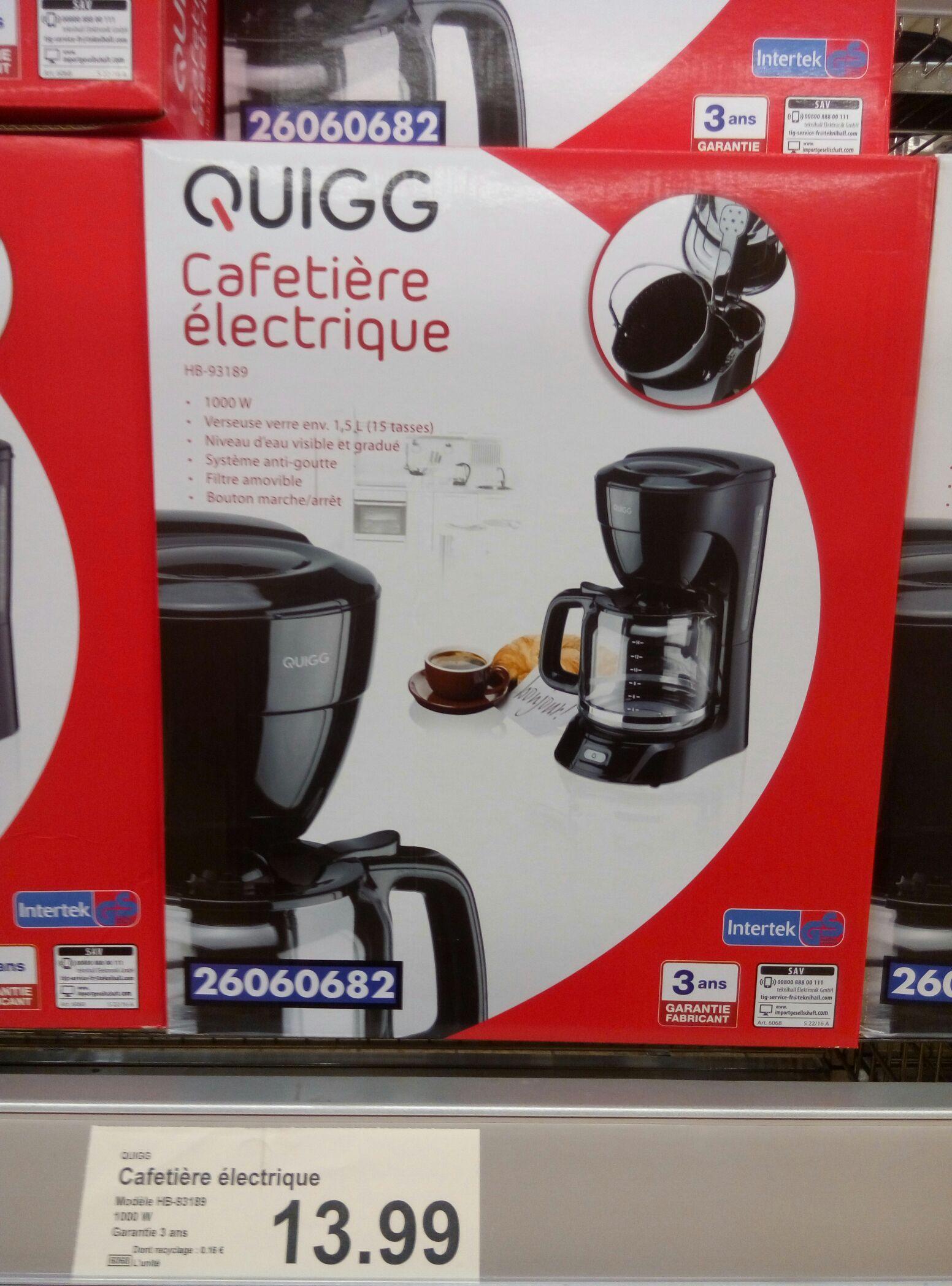 Cafetière électrique Quigg - 1.5L, 1000w