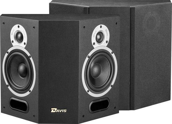 Paire d'Enceintes HC Surround Bi-polaires Bass-reflex Davis Acoustics Atmosphère Noir - 2 voies, 70/100W, 50 Hz à 20 kHz, 90 dB